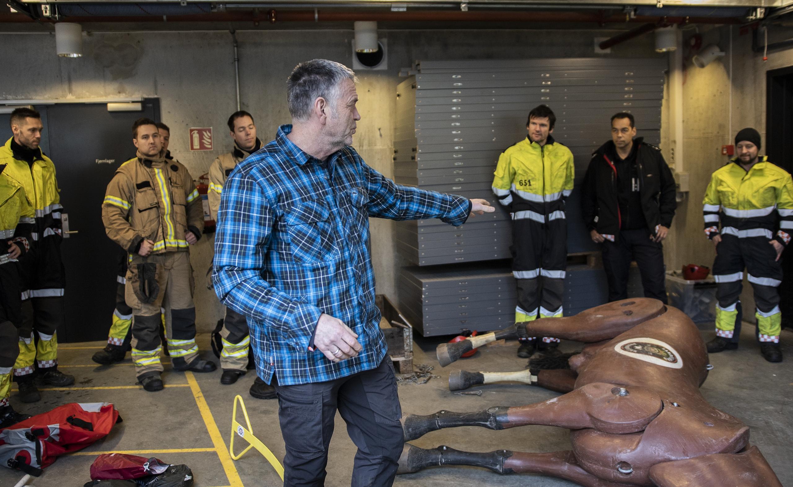 Instruktør Jan Helge Olsen, dyreredning